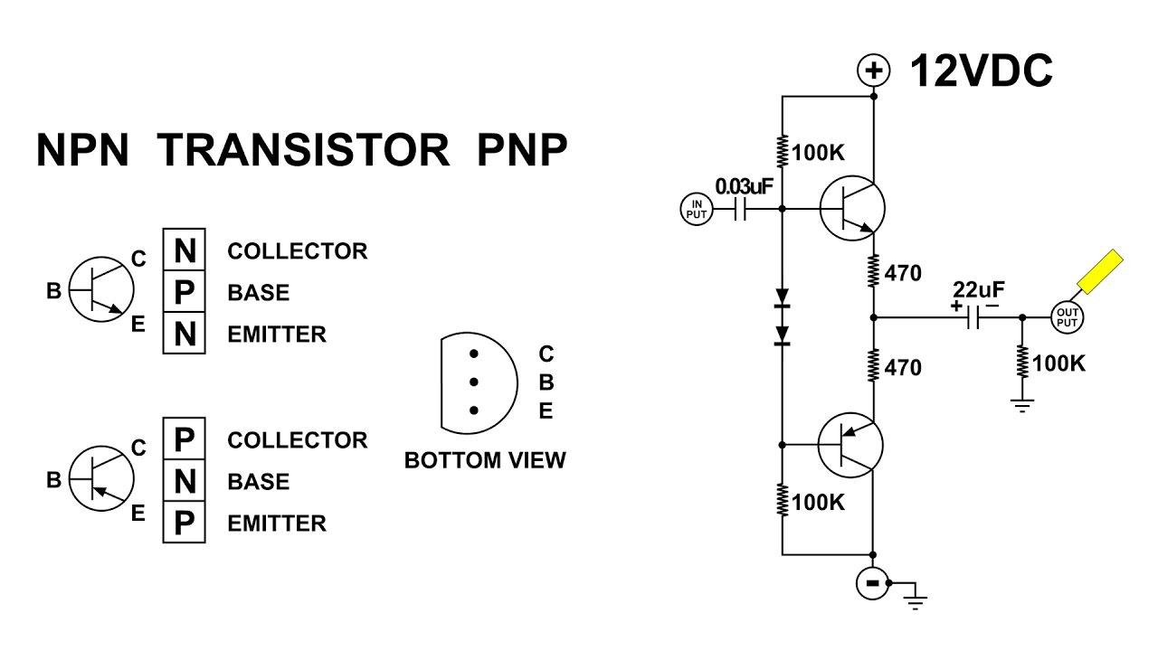 transistor push pull amplifier for the beginner no transformer transistor pushpull circuit diagram [ 1280 x 720 Pixel ]