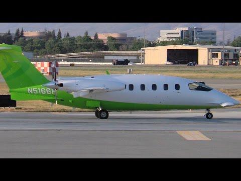 Piaggio P180 Avanti N5166P Departing SJC