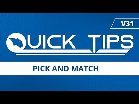 Pick and Match - BobCAD-CAM Quick Tips: V31