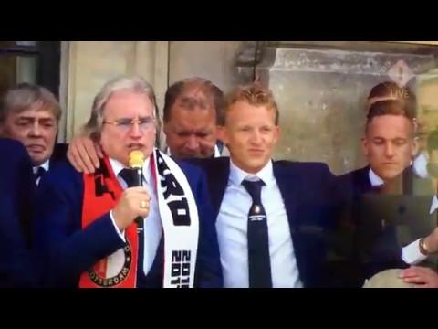 Feyenoord Kampioen 2016 - 2017 Huldiging Stadhuis Rotterdam