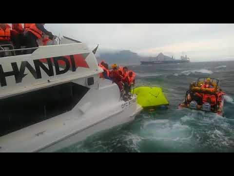 [WATCH]68 Rescued from sinking Robin Island ferry