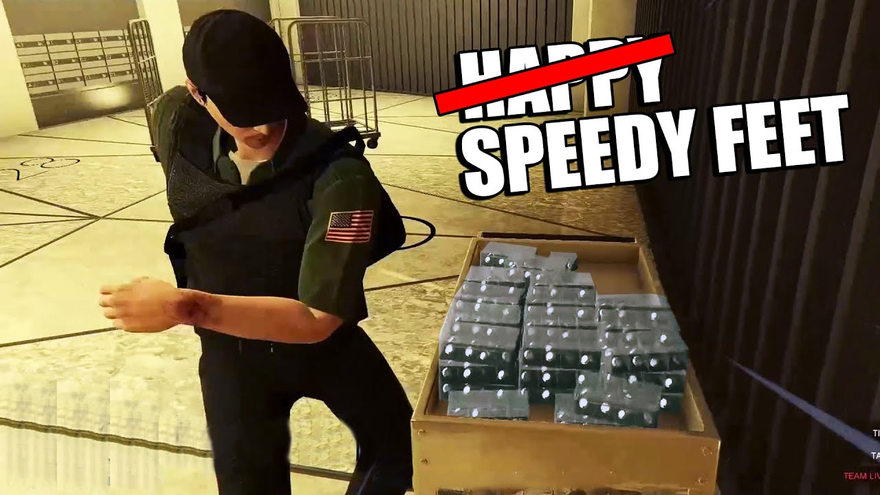 Every Footstep I Take The Video Speeds Up | GTA Online Diamond Casino Heist Big Con Gruppe Sechs