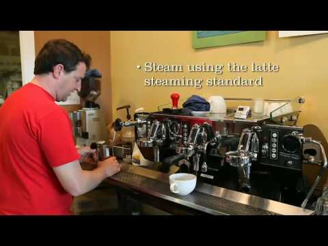 Caffe Latte without Latte Art Method of Production