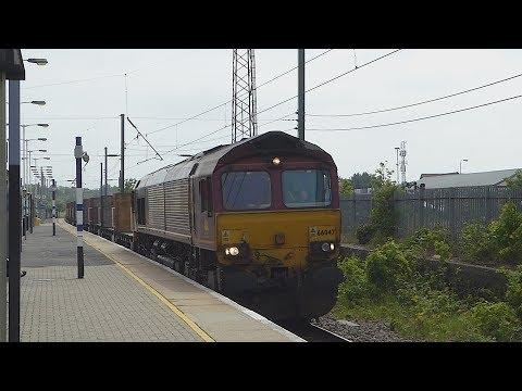 DB Cargo Class 66 arrives at Biggleswade (23/5/18)