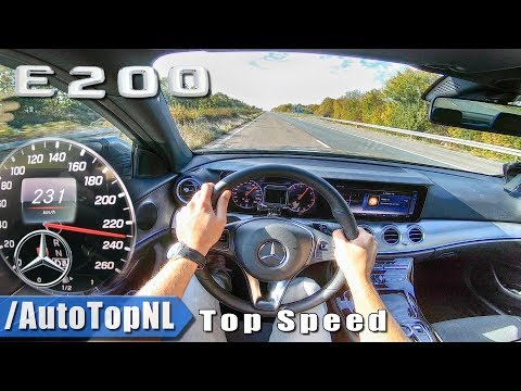 2019 Mercedes Benz E Class E200 AUTOBAHN POV TOP SPEED By AutoTopNL