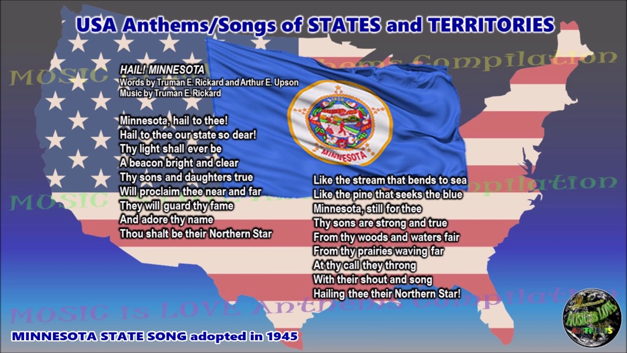 Minnesota State Song Hail Minnesota With Vocal And Lyrics Youtube
