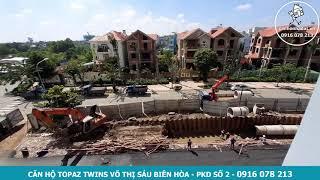 Thi công khuôn viên căn hộ Topaz Twins trung tâm Biên Hòa tháng 10/2020
