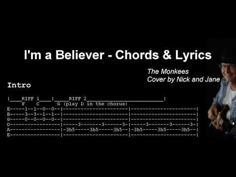 I'm a Believer Chords & Lyrics