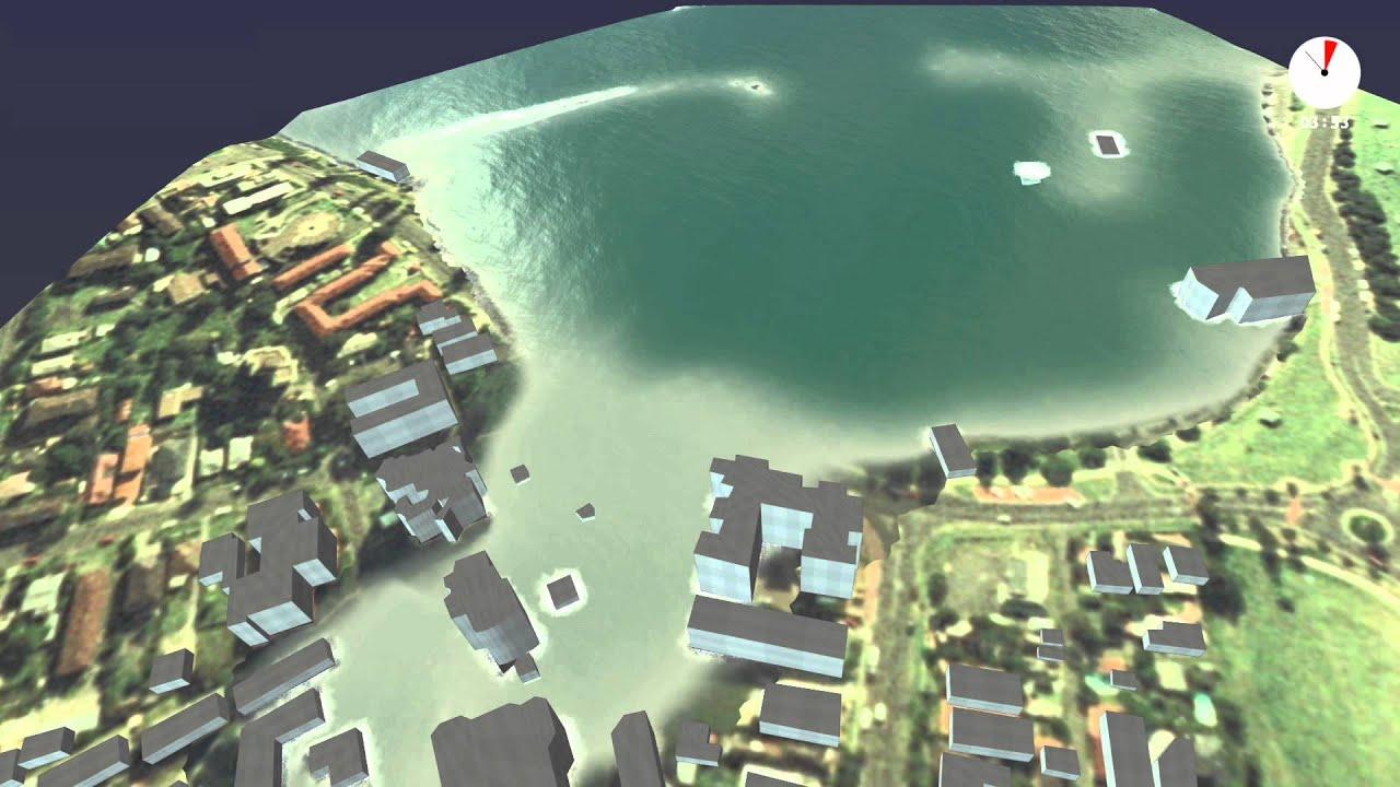 Hypothetical tsunami inundation model