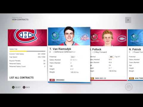 NHL 17 Franchise Mode - [Ep.8] First 90 overall player !! Year 4 Offseason !
