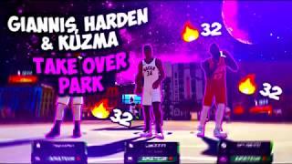 GIANNIS, HARDEN & KUZMA TAKE OVER THE MYPARK | 2K19