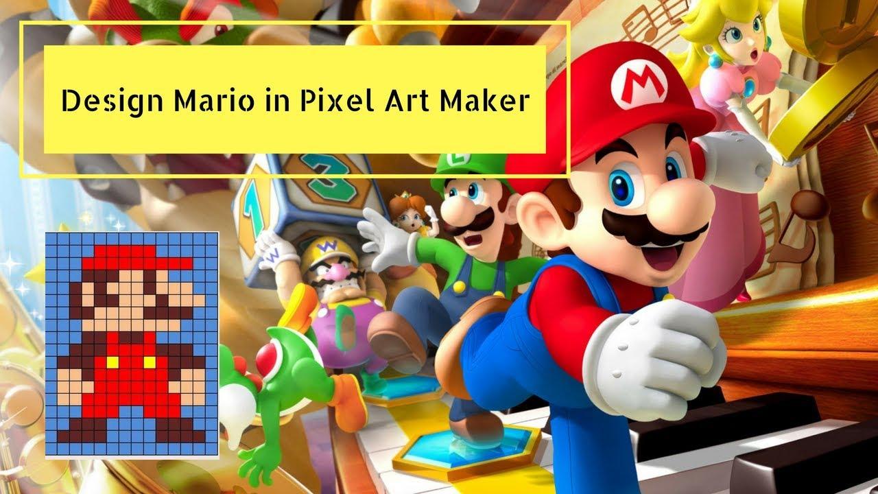 Design Mario in Pixel Art Maker