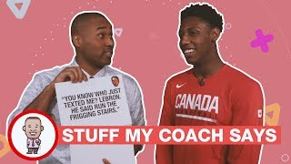 STUFF MY COACH SAYS - RJ BARRETT on CABBIE PRESENTS