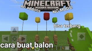 Cara buat ballon bisa terbang di minecraftPE no mods no addons!