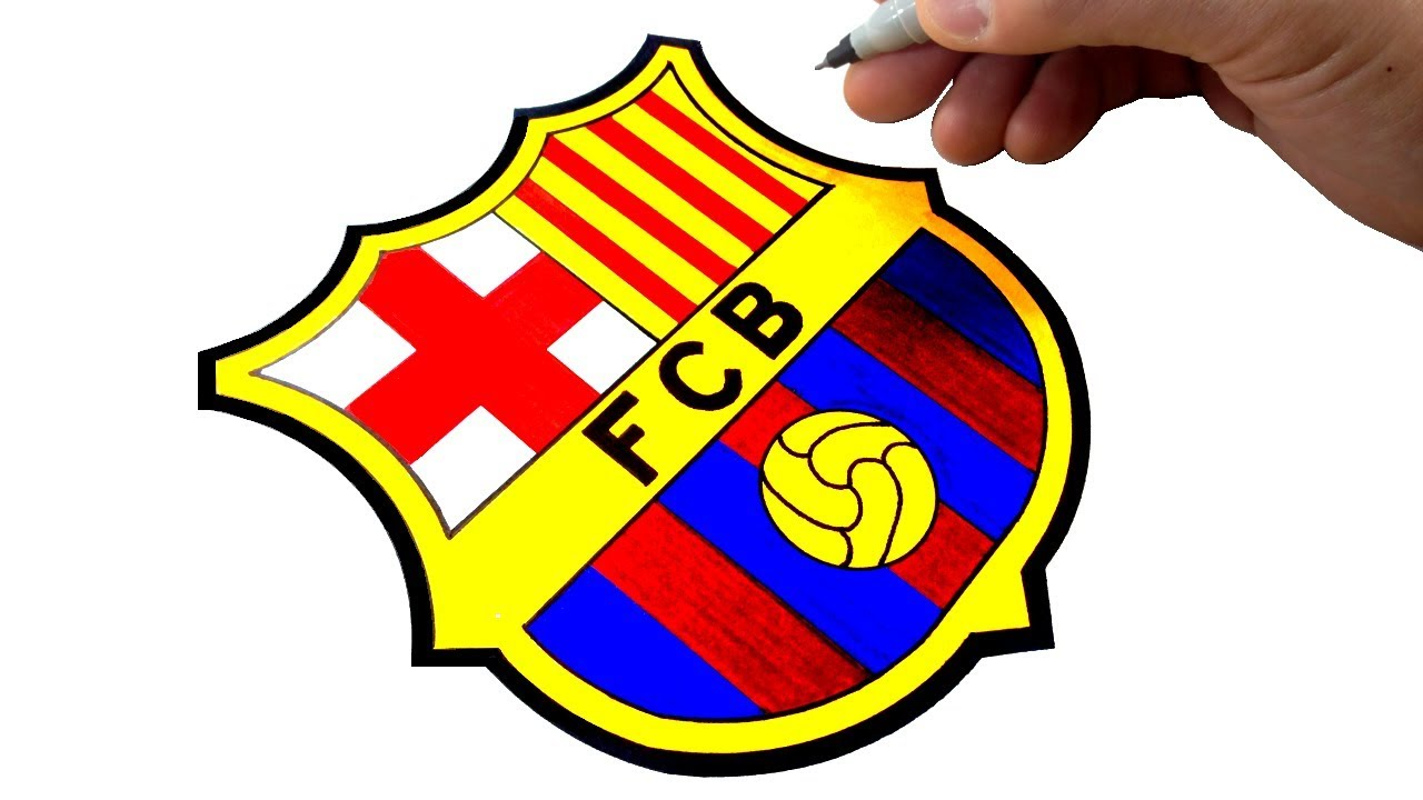 How To Draw The Fc Barcelona Logo And Badge Best On Youtube Youtube