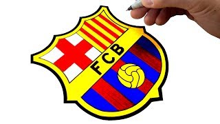 How to Draw the FC Barcelona Logo and Badge - Best on YouTube