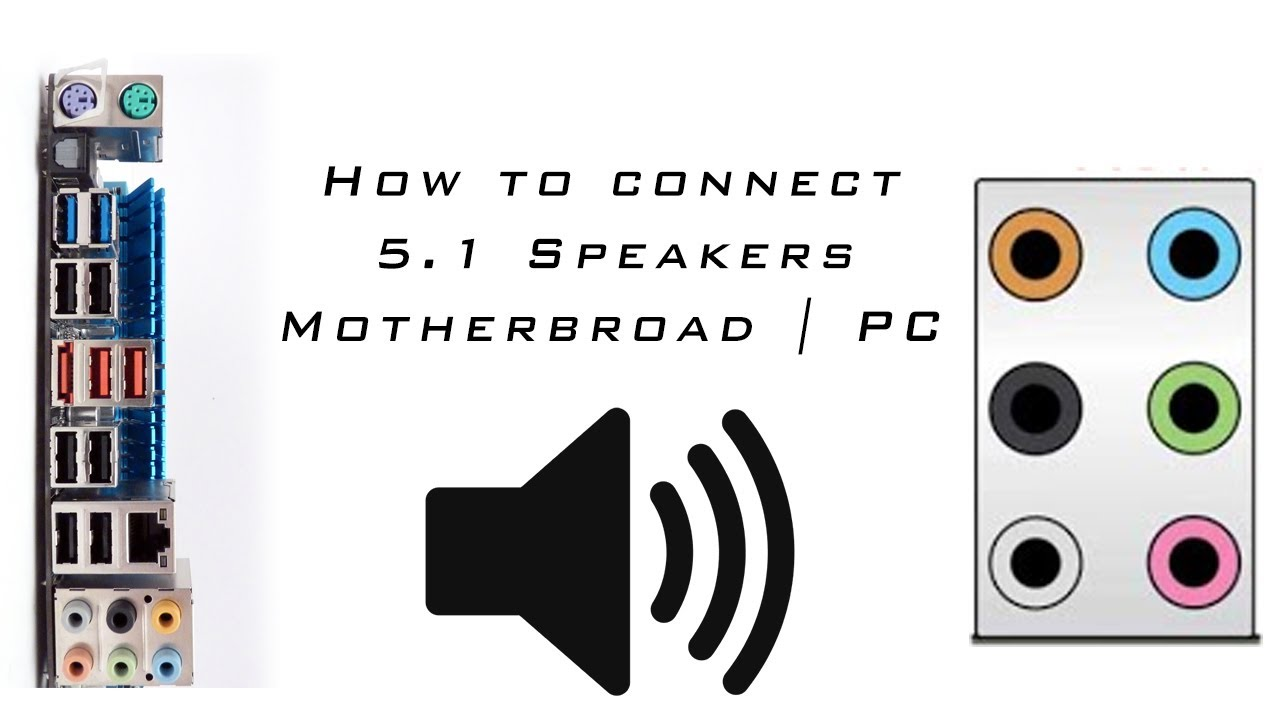 how to connect 5 1 speakers motherbroad pc computer [ 1280 x 720 Pixel ]