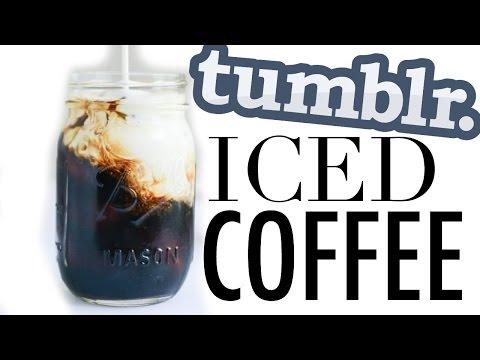 How To Make Iced Coffee   DIY Tumblr Iced Coffee