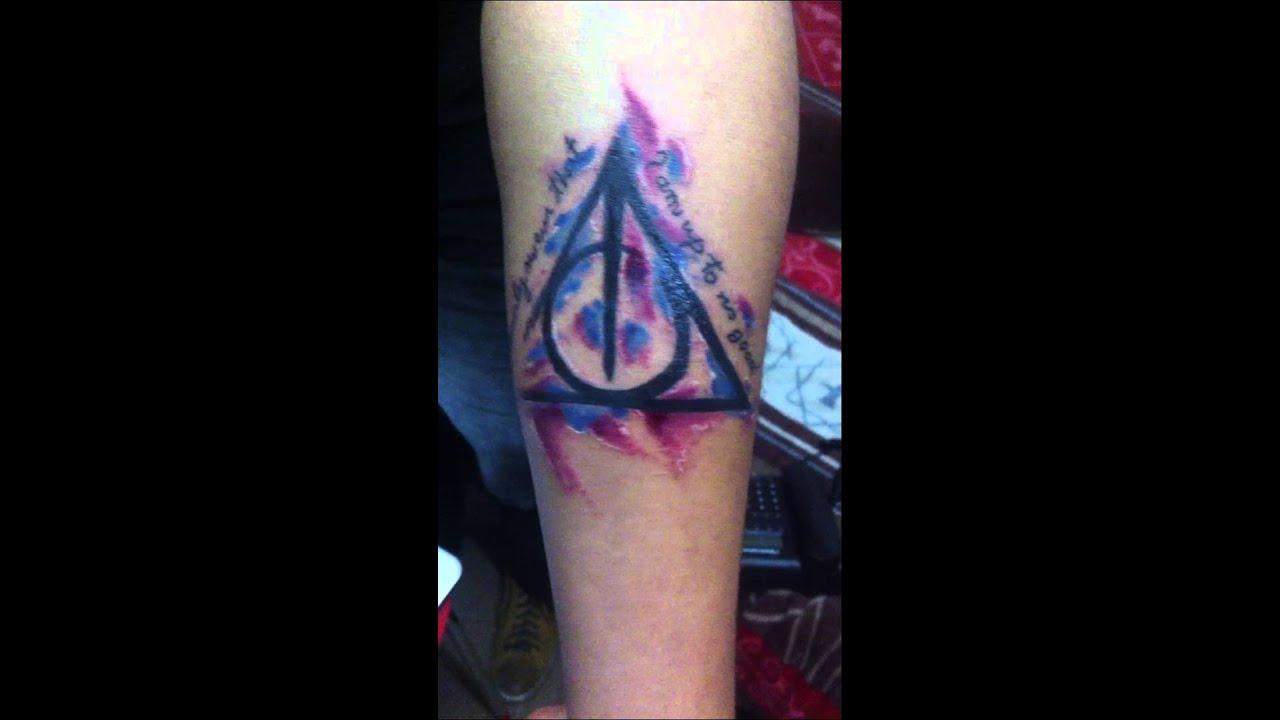 Tatuaje Freehand Las Reliquias De La Muerte Youtube