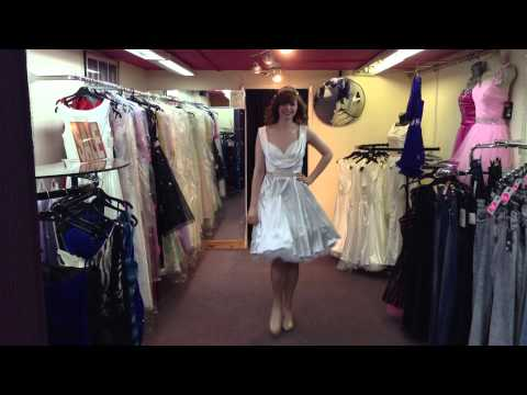 PDUK Ivory Satin Vintage 50s Petula Prom Dress
