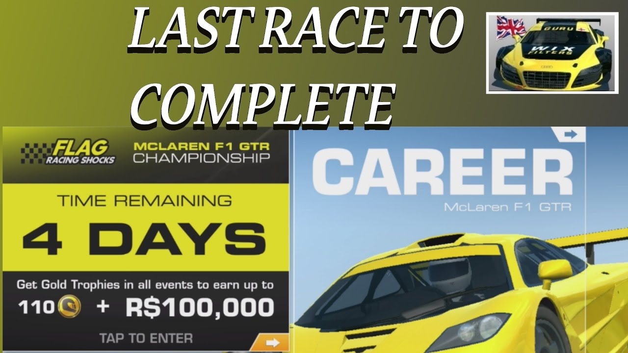 mclaren f1 gtr lts championship last race real racing 3 rr3 - youtube