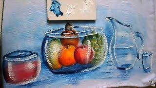 Como pintar jarra ou vaso de vidro transparente