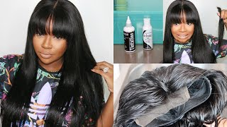 Water Color Method and China Bangs | Dying Hair Jet Black From Natural Brown | Ballice Virgin Hair