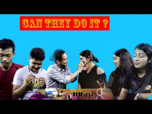 Make-up challenge | Can a boy do a girl's makeup perfectly? | The Fun Factory