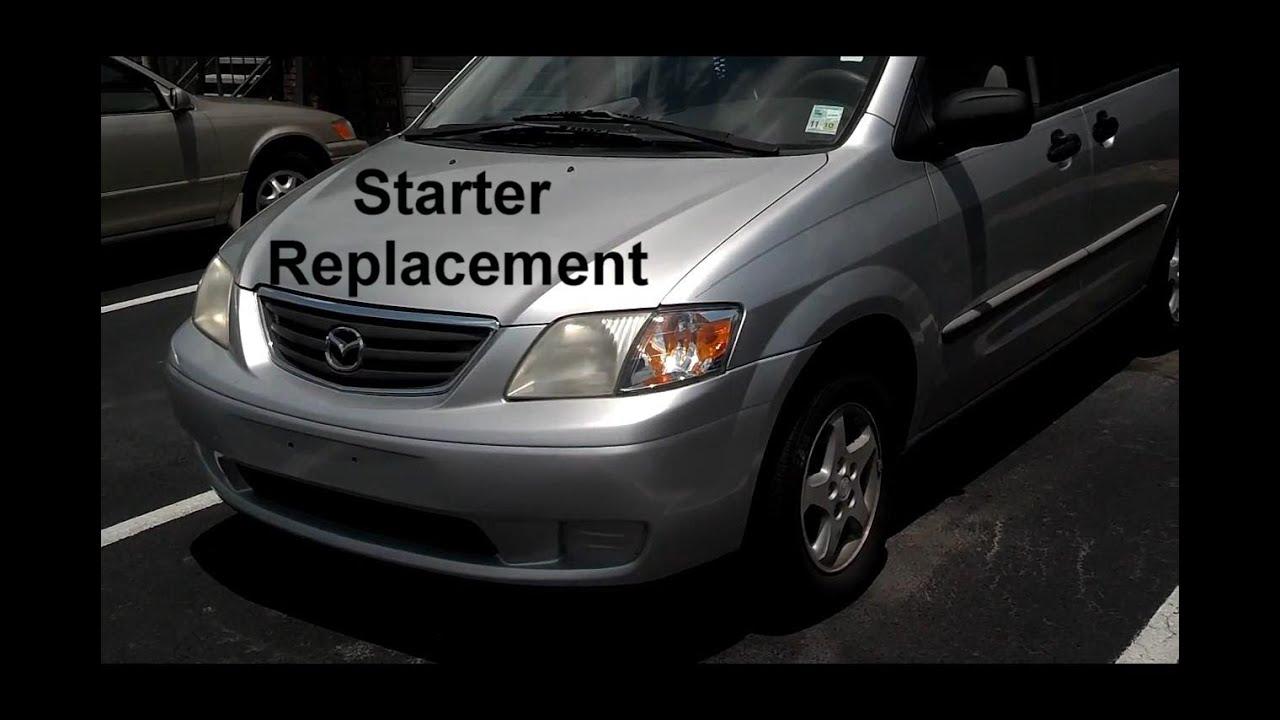 mazda mpv starter replacement auto repair series [ 1280 x 720 Pixel ]