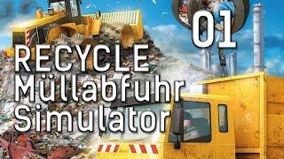 RECYCLE Der Müllabfuhr Simulator #1 Einführung in den Abfall Manager deutsch HD 1080