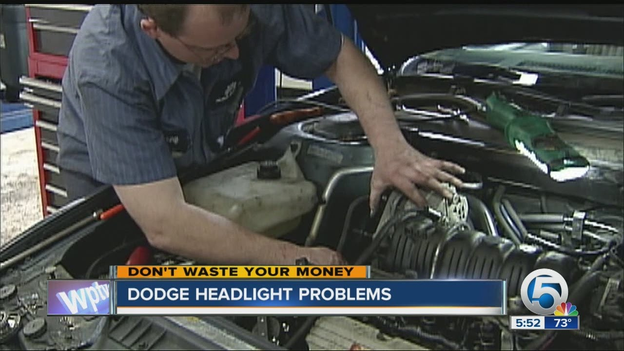 Dodge headlight problems - YouTube