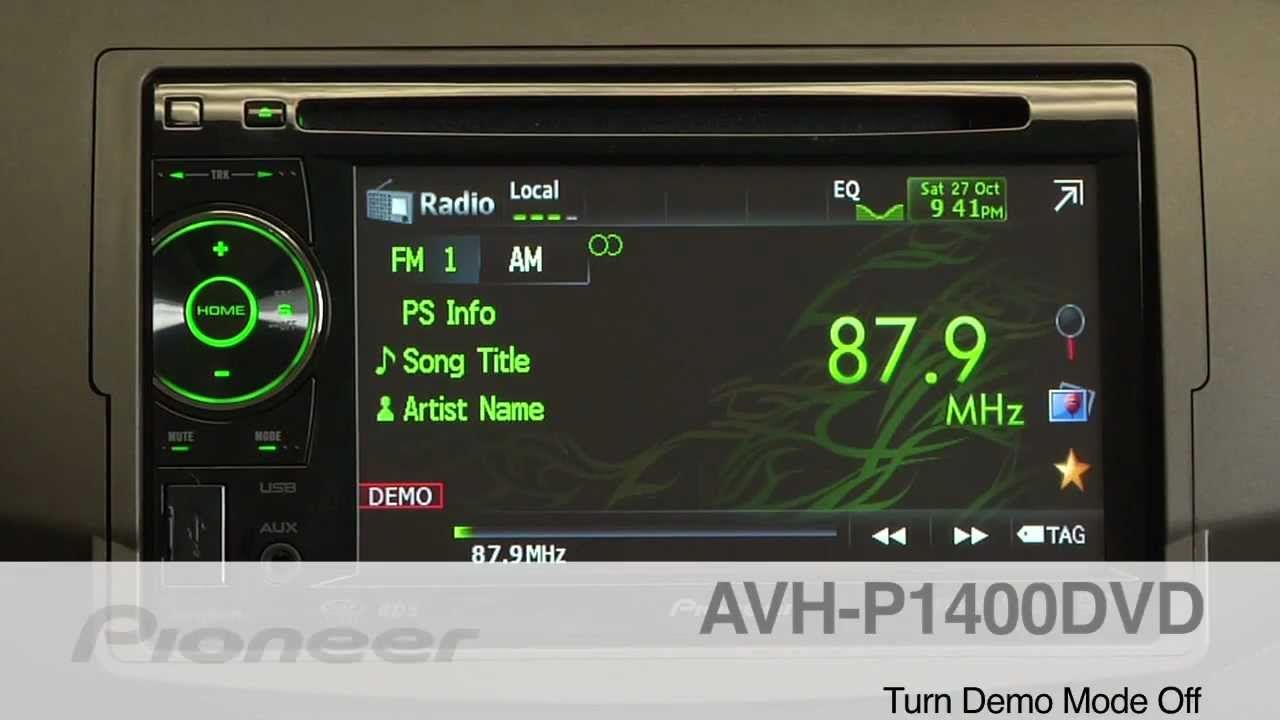 maxresdefault how to avh p1400dvd turning off demo mode youtube pioneer avh p2400bt wiring diagram at mifinder.co