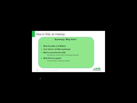 Dec 2014 Session, Hortonworks Scott Shaw:Hive SQL on Hadoop.
