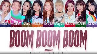 Niziu – 'boom Boom Boom' Lyrics  Color Coded_kan_rom_eng