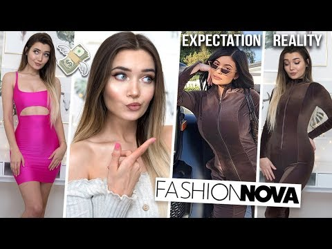 TRYING ON KYLIE JENNER'S OUTFITS FROM FASHION NOVA... WAS IT WORTH IT!? AD