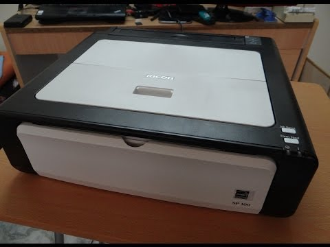 Ricoh Aficio SP 100 Mono Laser Printer - Unboxing, Short Rev