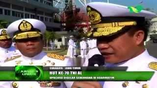 Upacara Peringatan HUT ke-70 TNI AL di Koarmatim Surabaya