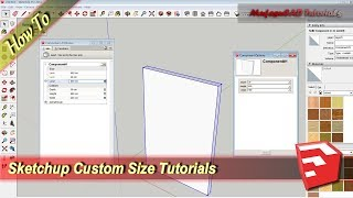 Sketchup Custom Size Tutorial Dynamic Component Attribute