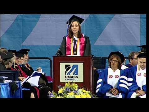 Mary-Kathryn Hazel - Undergraduate Student Address - UMass Lowell 2013 Commencement (4:57)