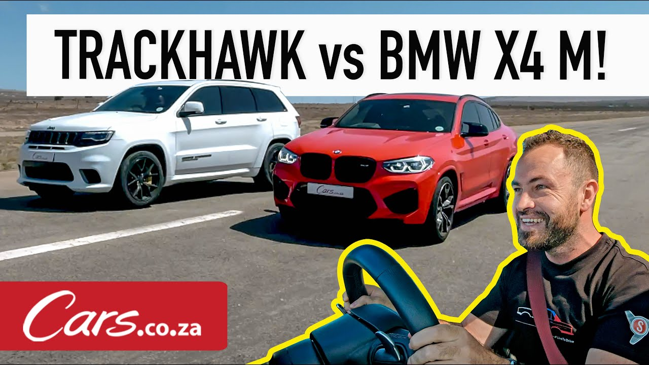 Drag Race Jeep Trackhawk Vs Bmw X4 M Youtube