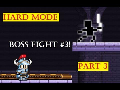 Dan The Man [HARD MODE] Walkthrough Gameplay Part 3 - Stage 3 Boss fight 3! The Dark Master
