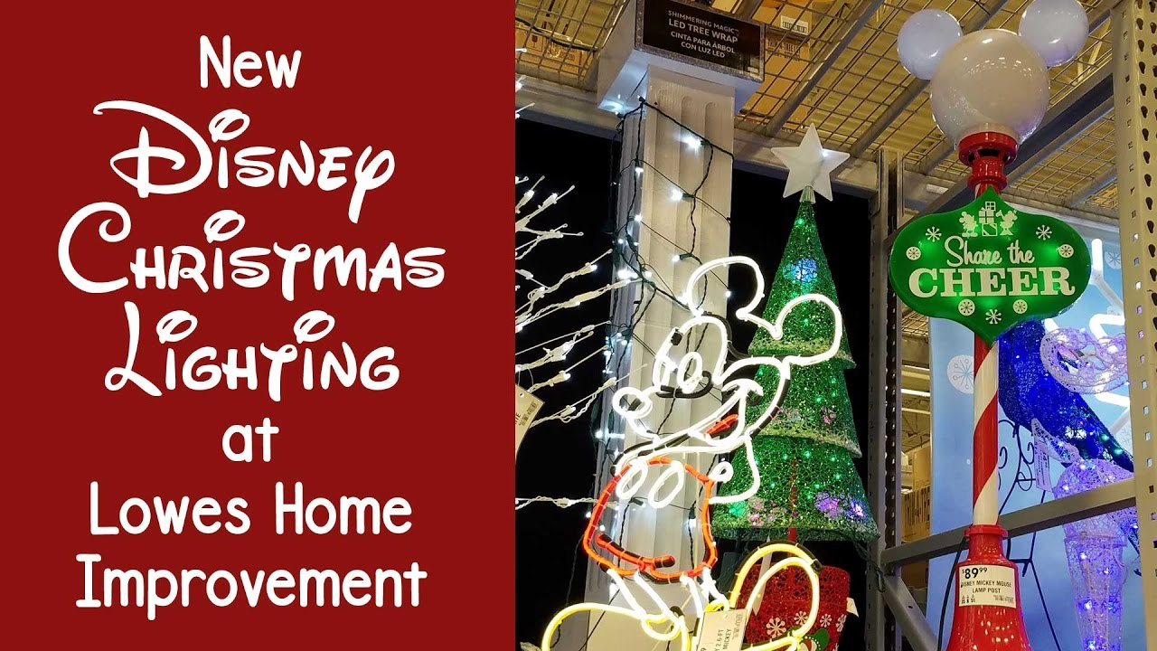 New Disney Christmas Lighting At Lowes Bring The Magic Home Youtube 8 Function Lamp