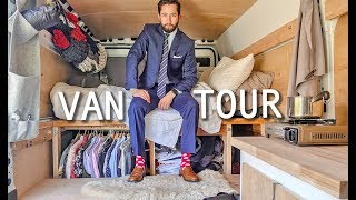 Young Professional Tries Vanlife | Custom Van Build & Tour