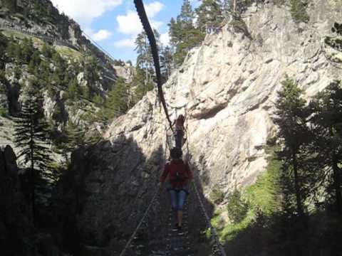 Tibetan Bridge - Ponte Tibetane - Claviere Piemonte Italy