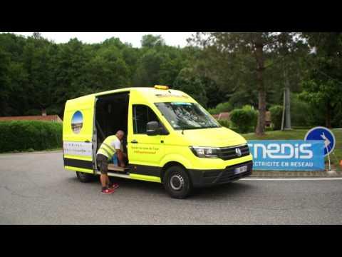 Tour de France 2017 - La Sécurité autour du Tour par les camions jaunes