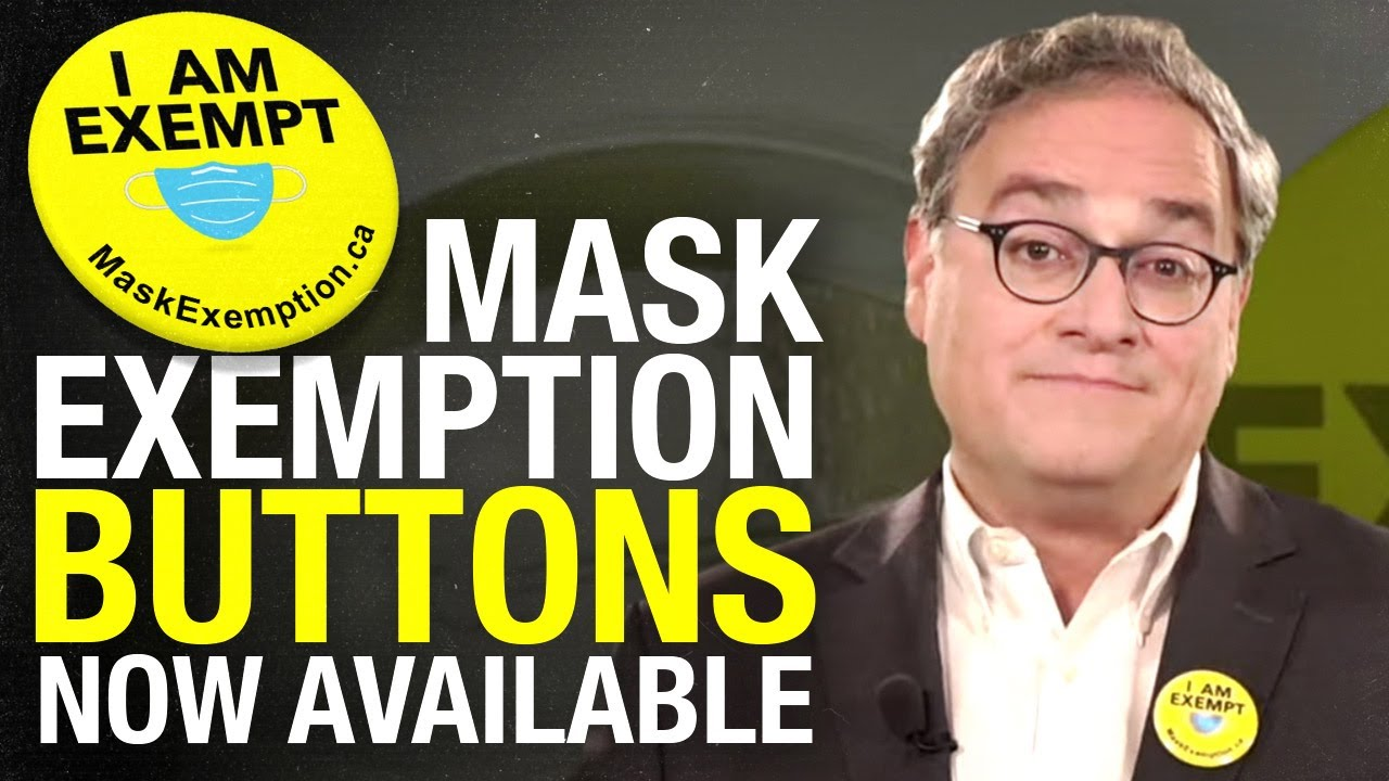"""NEW! Get your """"I am exempt!"""" COVID-19 mask exemption button"""