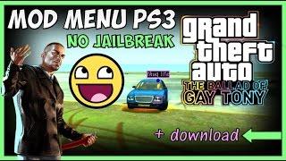 GTA IV TBOGT - MOD MENU PS3 NO JAILBREAK !!! (GTA 4 EFLC MODS) + DOWNLOAD !!! [OFW]
