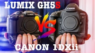 LUMIX GH5S vs CANON 1DXii // In Depth Comparison for Filmmakers