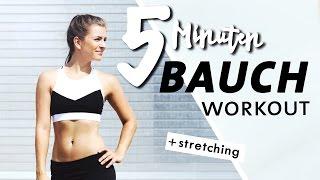 Bauch Home Workout | Kurz & Intensiv | 5 Minuten Core Training + Stretching