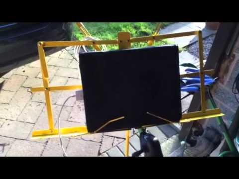 'iPad Twiggy' Bike mount/holder for turbo training.